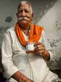 Man Drinking His Afternoon Chai