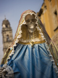 Skeleton Adorned as Virgin Mary
