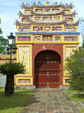 Western Entrance Gate to the Mieu Temple Inside Hue Citadel and Imperial City