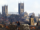 Lincoln Cathedral over Rooftops