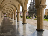 Colonnaded Marble Walkway at Joseph Stalin Museum