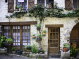House Facade with Flowers in Lot Valley