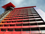 Exterior View of Radical Design Hotel-Hotel Puerta America by Architect Jean Nouvel