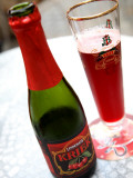 Black Cherry Test Lindemans Kriek Beer Served in Local Bar
