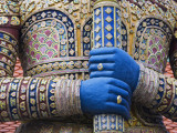 Detail of Viruncamban Statue  Royal Grand Palace  Rattanakosin District  Bangkok  Thailand  Asi