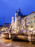 Fontana Del Nettuno (Neptune Fountain) and Church of Sant&#39;Agnese in Agone at Piazza Navona