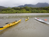 Kayaks at Low Tide in Zoe Bay