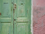 Complementary Colours Adorning Doorway in Tangier Medina