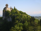 Rocca Cesta Castle Built on Highest Peak of Titan Mountain of Medieval San Marino