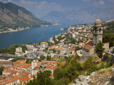 Stari Grad (Old Town)  City and Bay of Kotor from Mt St John