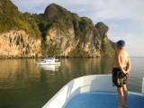 Tourist on Boat on Ao Phang Nga