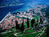 High Angle View of Kotor and Europe&#39;s Southernmost Fjord
