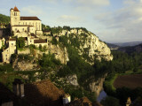 St Cirq Lapopie High on Cliff Overlooking the Lot River