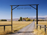 Gate at Ranch in Sunset Valley at Frenchglen Highway Near Burns