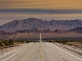 Route 66 Near Chambless with Marble Mountains in Distance  Mojave Desert