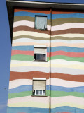 Bold Colours Decorating Facade of Apartment Building