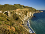 Bixby Creek Bridge on Highway One  Along Big Sur Coastline