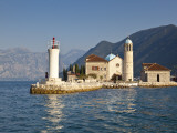 Our-Lady-Of-The-Rock and St George&#39;s Islands in Bay of Kotor