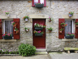 Fisherman&#39;s House Decorated with Flowers in Fishing Village of Piriac Sur Mer