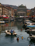 Trieste Grand Canal (Canal Grande) Towards Saint Anthony&#39;s Square