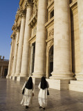 Nuns in Piazza San Pietro in Front of StPeter&#39;s Basilica