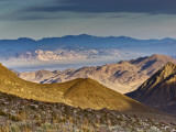 Telescope Peak Covered with Snow in Panamint Range over Death Valley