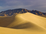 Cadiz Dunes at Sunrise  Ship Mountains in Distance at Mojave Desert