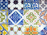 Detail of Antique Portuguese Tiles