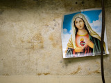 Image of Virgin Mary Hanging in Medical Clinic in Carlos Magno Neighbourhood