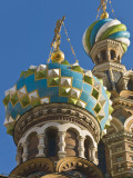 Green  Blue  and White Coloured Domes of Vladimirskaya Church