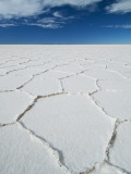 Hexagonal Shapes on Salt Flat