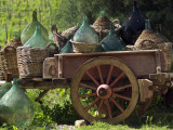Discarded Wine Demijohns in Cart at Villa a Sesta