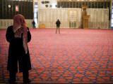 Man Praying Inside King Abdullah Mosque