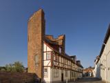 Halbturm  a Half Tower and Half House at an Der Mauer Street