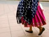 Lower Half of Traditionally Dressed Ecuadoran Woman