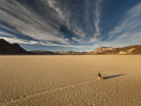 Moving Rocks at the Racetrack Dry Lake  Mojave Desert
