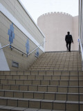 Businessman Ascending Staircase