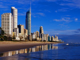 Hi-Rise Apartment Buildings and Surfers Paradise Beach