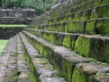 Detail of Moss Covered Stone Steps at Mayan Ruins of Quirigua