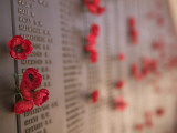 Memorial Wall for Australian Soldiers Who Died in the Second World War