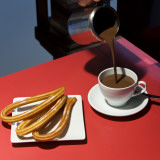 Chocolate Con Churros at the San Miguel Market