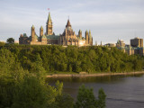 The Buildings of Parliament Hill  Along the Ottawa River