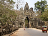 Victory Gate  One of Five Monumental 20M Gates in the Fortified City of Angkor Thom