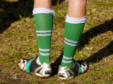Football Boots with Legs in Them