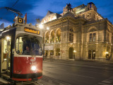 Tram Outside Statsoper (Opera House) at Opernring  Innere Stadt