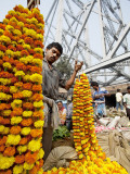 Strung Marigolds for Sale