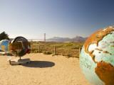 Globe Sculptures Along Footpath