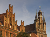 Neogothic Post Office at Old Market Square and Gothic Towers of Church of St Mary