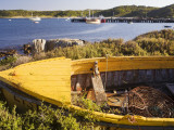 Old Boat on Shore of Currie Harbour