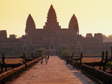 Angkor Wat Silhouetted Against a Sunris